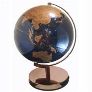 Heritage Navy/Rose Gold World Globe 25cm LED