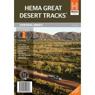 Great Desert Tracks of Australia Central Sheet - 4WD