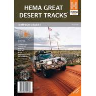 Great Desert Tracks of Australia Simpson Desert Sheet - 4WD