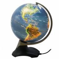 Heritage Electric Blue Rotating LED World Globe