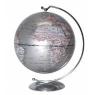 Heritage Silver Ocean Hanging Mini Globe