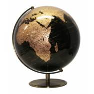 Heritage Black and Gold Ocean 25cm World Globe