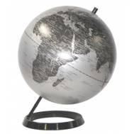 Heritage Matt Silver Ocean 30cm World Globe