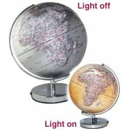 Heritage Silver Ocean World Globe LED