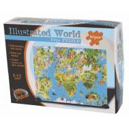 Illustrated World Puzzle 80pc
