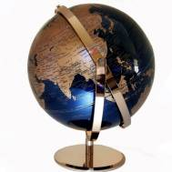 Heritage Navy/Rose Gold World Globe 30cm LED