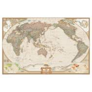 National Geographic World Map Antique