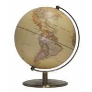 Heritage Embossed Antique 25cm World Globe MS-110S3B-P