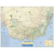 South East Australia Wall Map