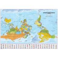 Eurocentric Upside Down World Map