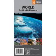 World Political  & Physical Pacific Centred