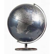 Heritage Metallic Blue Ocean 30cm World Globe MS-112G5B-P