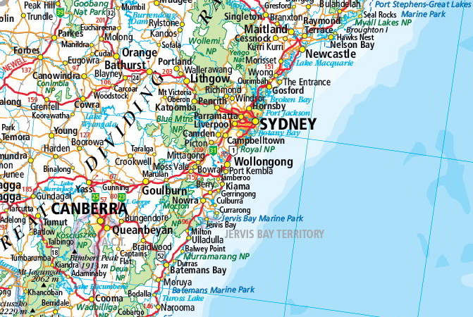 Map Of Young Australia.Australia Reference Laminated Wall Map