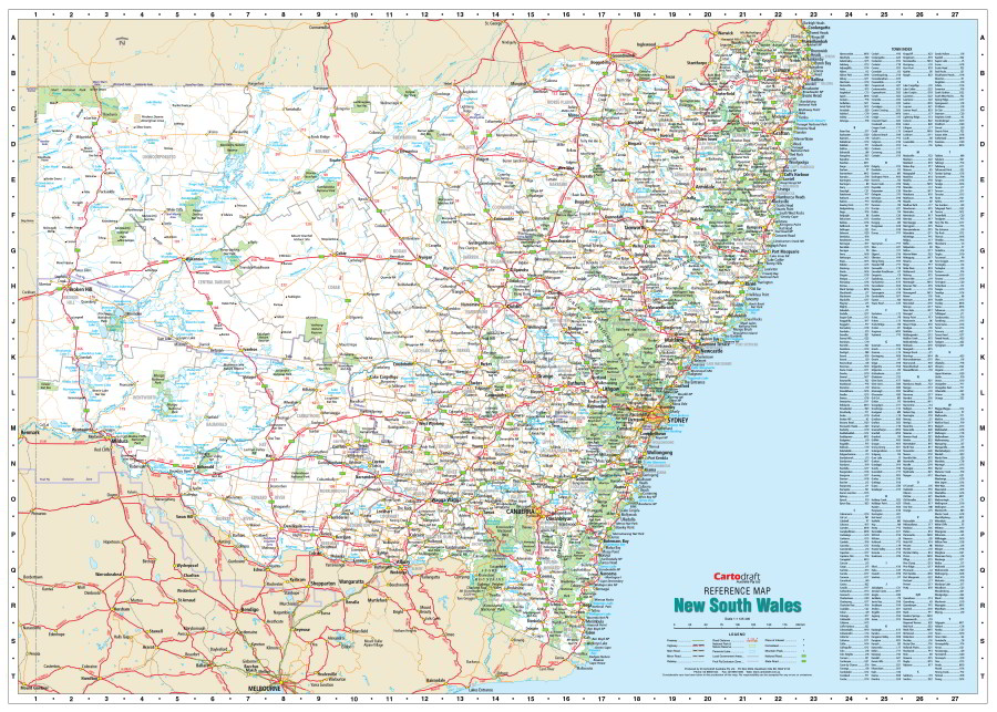 new south wales reference map
